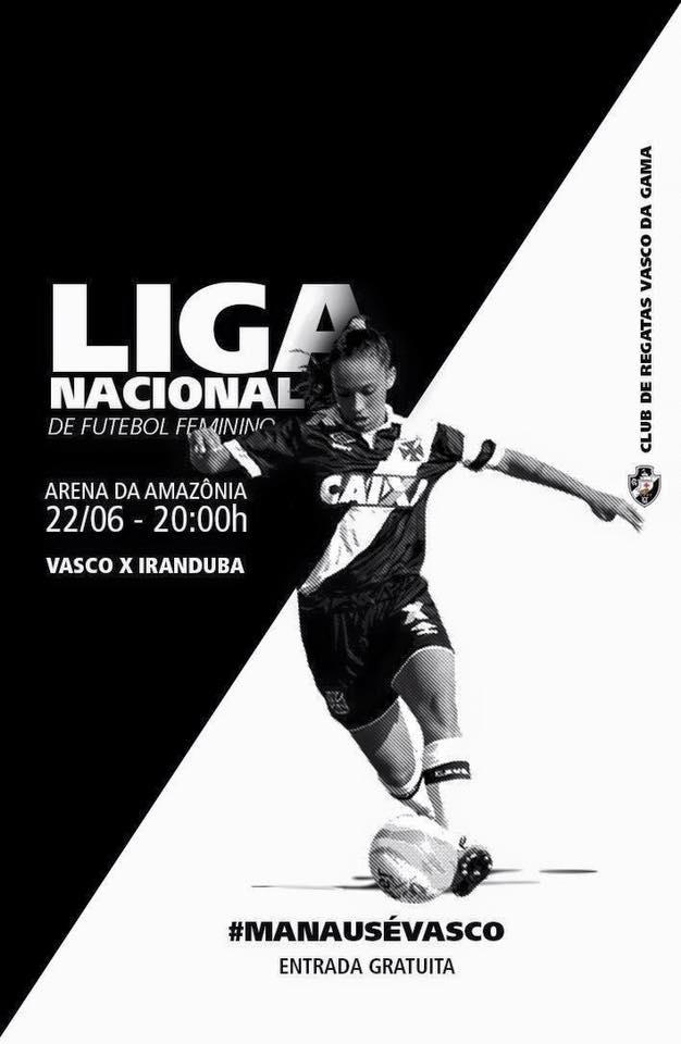 Futebol Feminino  Vasco convoca a torcida para confronto contra o ... 1d60f0df5a3e4